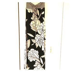 Black & White Mossimo Floral & Striped Maxi Dress